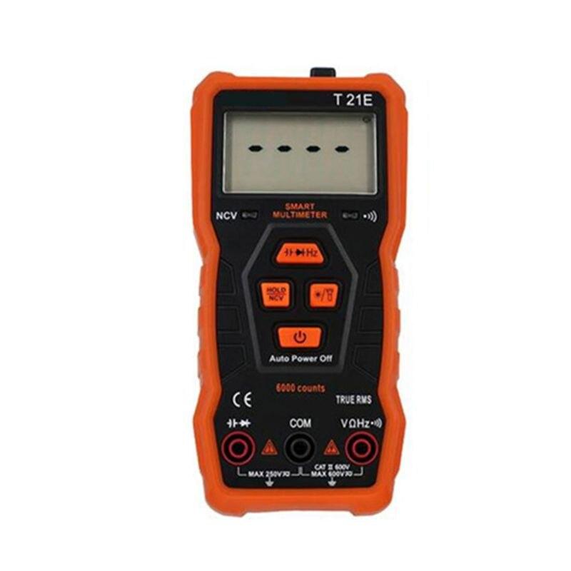 T21E NCV Digital Multimeter Automatic AC/DC Voltmeter True RMS Diode Hz Tester