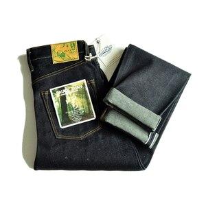 Saucezhan 308XX-L2  Men Jeans Color Cotton and Linen Denim Jeans for Men Selvadge Denim Jeans Men 66model Fit Button Fly 16.5 Oz