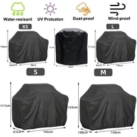 bbq grill barbeque cover anti dust waterproof weber heavy duty charbroil bbq cover outdoor rain protective barbecue cover 5 size