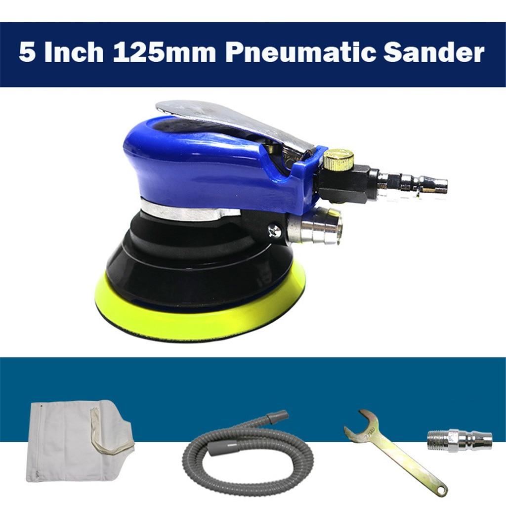 Lijadora neumática de 5 pulgadas y 125mm, pulidor para máquina de pulido, herramienta de lijado, accesorios para coche, mantenimiento, Auto detalle # yl10