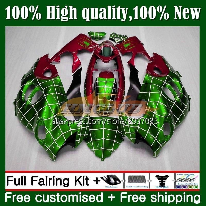 الجسم لسوزوكي كاتانا GSXF750 GSXF 600 750 10No.104 GSXF600 1998 1999 2000 2001 2003 GSX750F 03 04 05 06 07 هدية الأخضر الأحمر