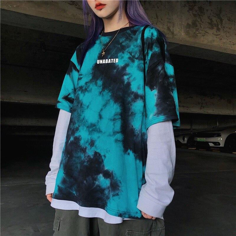 Camiseta de gran tamaño Snican, camisetas góticas de color rosa negro, camisetas para mujer, tops harajuku, camisetas de verano, camiseta damskie