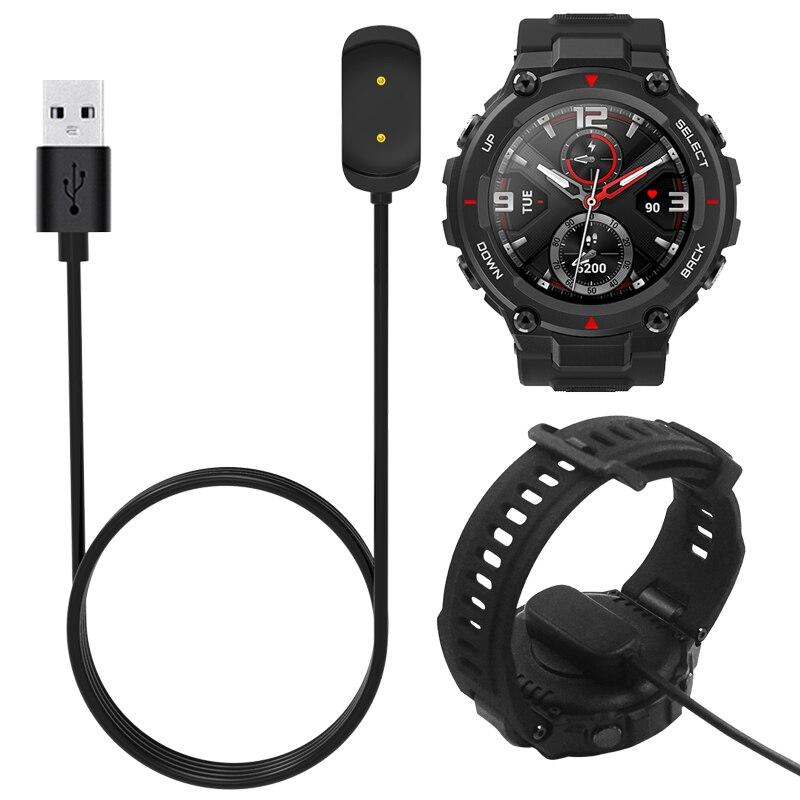 Doca carregador adaptador de carregamento usb cabo base cabo fio para xiaomi amazfit t-rex a1918 esporte relógio gtr 42mm 47mm gts smartwatch
