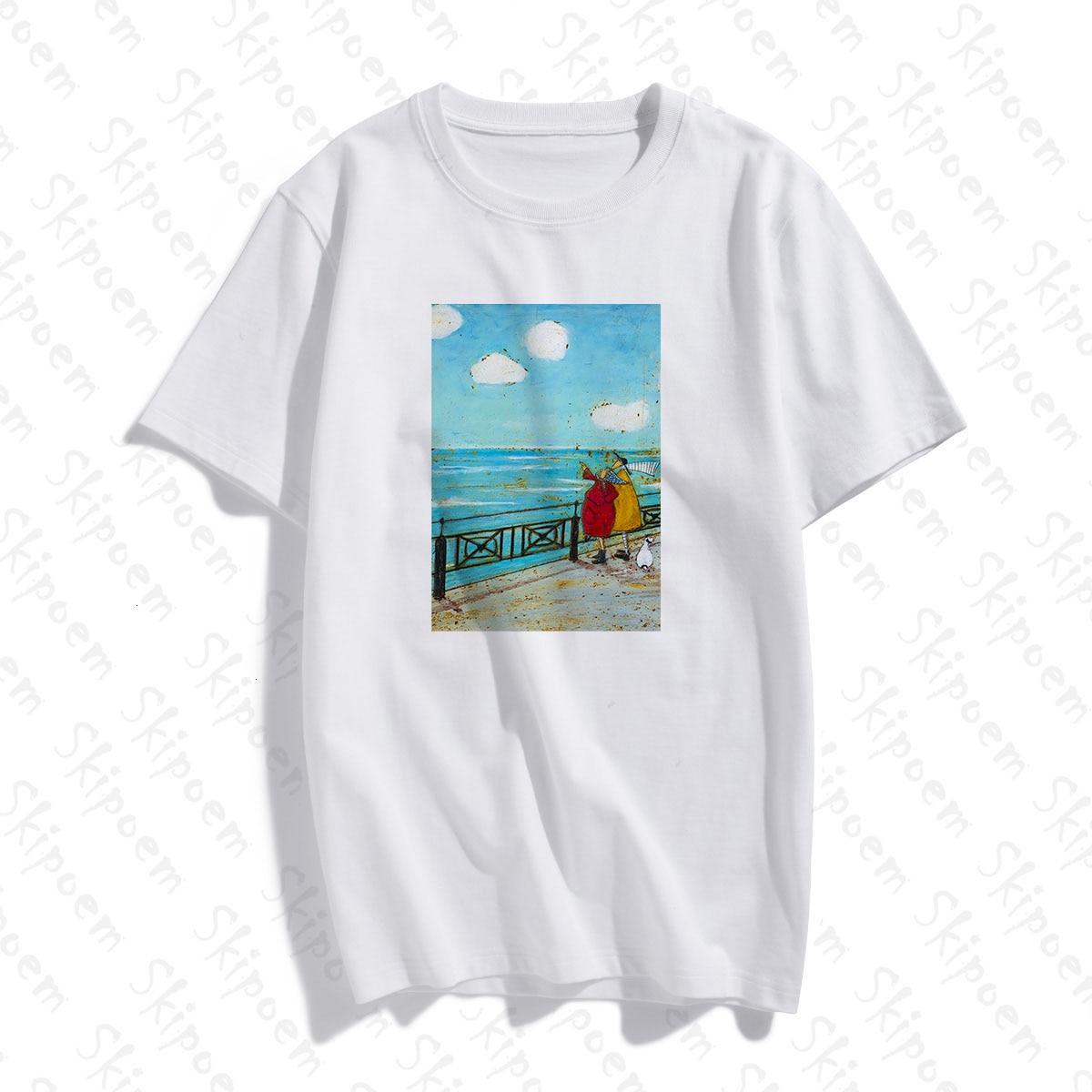 Сэм Toft постарше велосипед Американский абстрактный портрет для женщин футболка в винтажном стиле, в готическом стиле, хлопковая футболка с коротким рукавом размера плюс топ футболки
