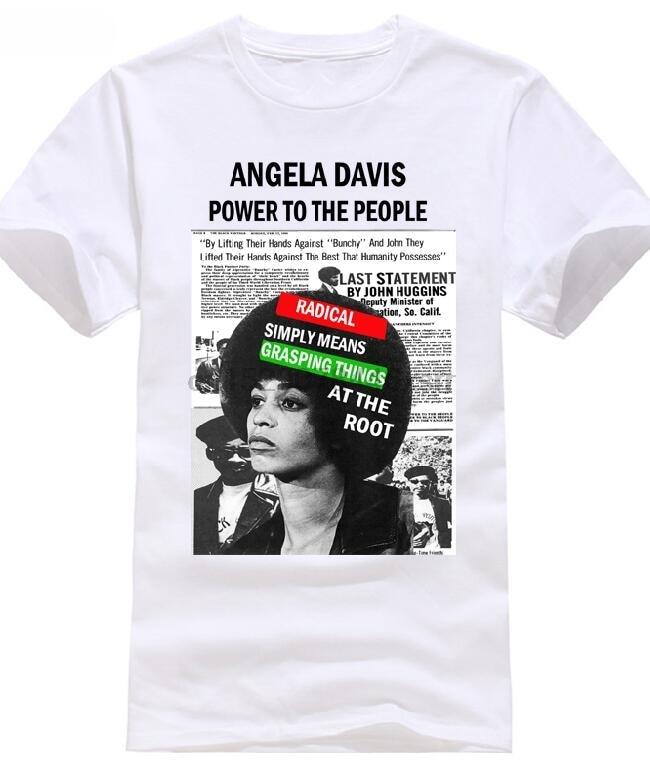 Camiseta del Mes de la Historia Negra Angela Davis Black Panther Party Black Lives nueva camiseta de manga corta de talla grande envío gratis