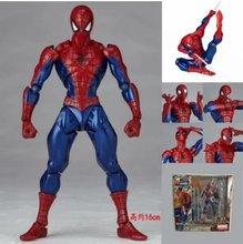 16cm niesamowity Yamaguchi Revoltech Spider-Man z uchwytem nr 002 pcv Action model figurki zabawka lalka prezent