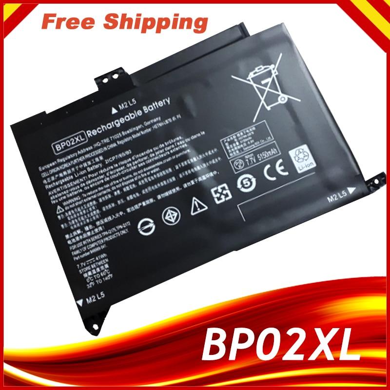 بطارية كمبيوتر محمول BP02XL ل HP 15 15-AU بطارية لأجهزة الكمبيوتر المحمول 849909-850 849569-421 HSTNN-LB7H BP02041XL AU162TX البطارية
