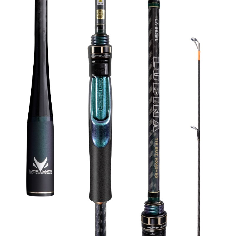 PURELURE Spinning Rod for Bass High Carbon long throwing Fishing Rod in FUJI accessories, plus spinning Reel enlarge