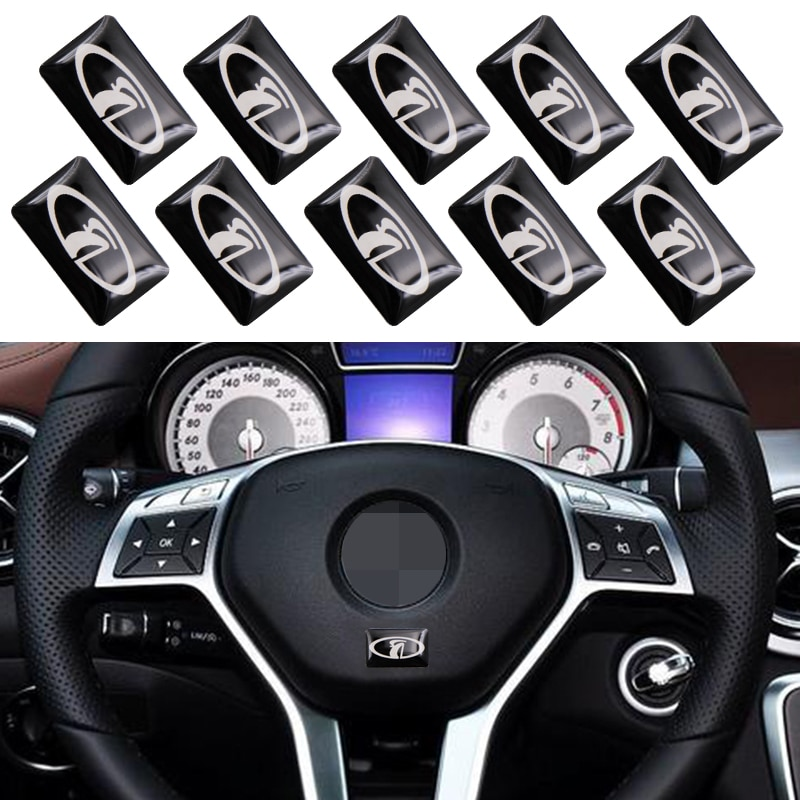 10pc interior do carro adesivo volante pequeno adesivo para lada niva kalina priora granta largus vaz samara 2110 estilo do carro