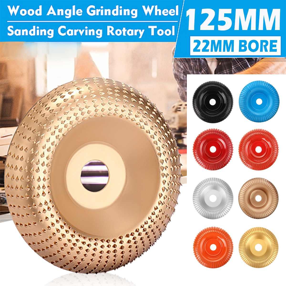Meule d'angle en bois ponçage sculpture outil rotatif disque abrasif pour meuleuse d'angle carbure de tungstène 22mm 16mm façonnage