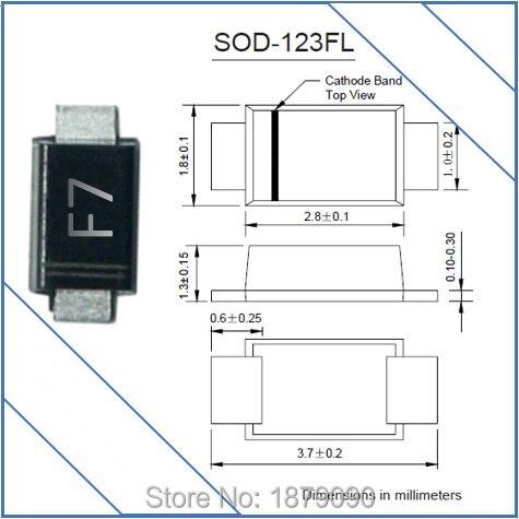 Envío Gratis 0,8 W/800mW 62V 68V BZD27C62P BZD27C68P SOD-123 SOD-123FL DO-219AB SMF regulador de tensión diodos Zener