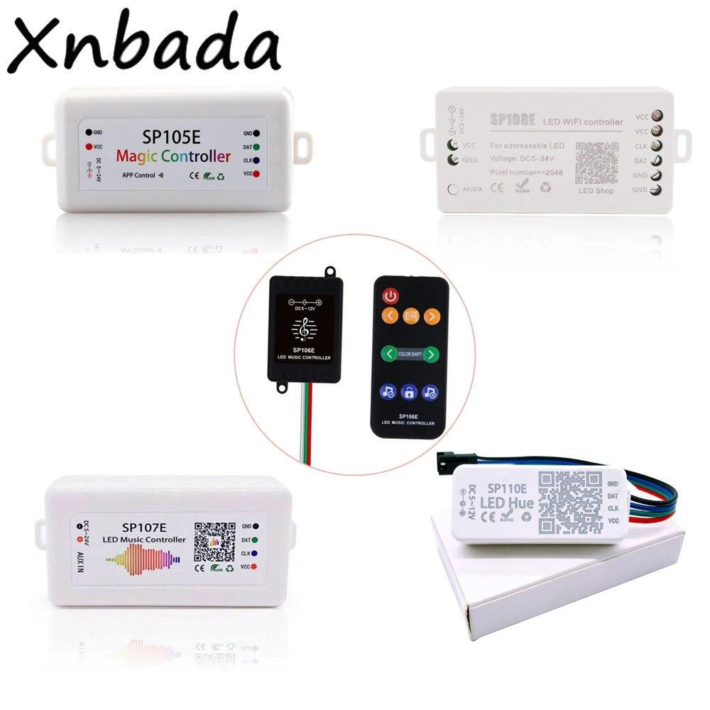 Контроллер светодиодной ленты SP105E/SP106E/SP107E/SP108E/SP110E для WS2812 SK6812 WS2811 Волшебная Светодиодная лента