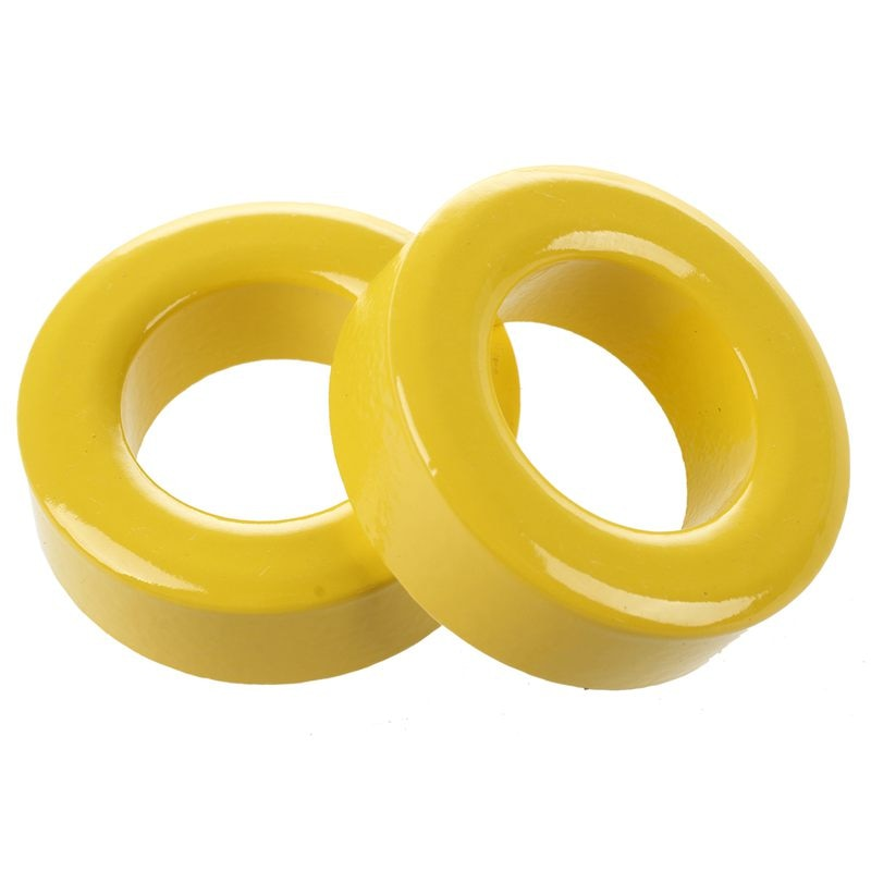 2 uds., 3m x 19mm x 11mm, amarillo, blanco, núcleo de hierro, anillos de ferrita Toroide