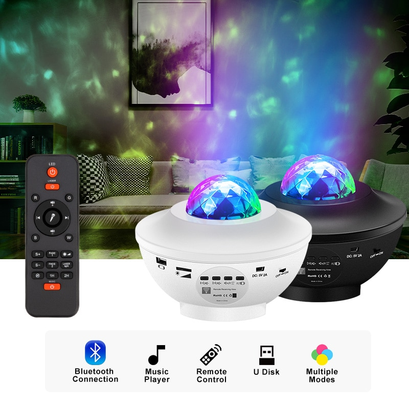 LED Star Galaxy Projector Ocean Wave Night Light Room Decor Rotate Starry Sky Porjectors Luminaria Decoration Bedroom Lamp Gifts enlarge