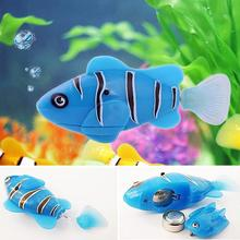 1PC Battery Powered Electronic Robotic Fish Swim Activated Fish Toy Robotic Pet for Fishing Tank Dec