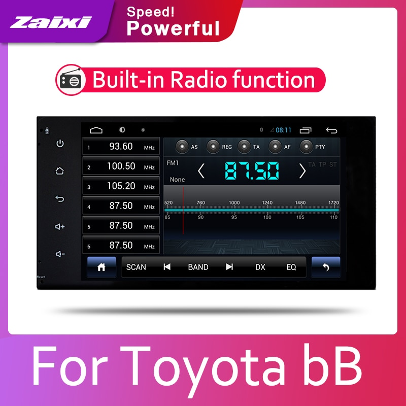 Car multimedia For Toyota bB 2000 2001 2002 2003 2004 2005 2din Android Car Radio GPS player Bluetooth WiFi