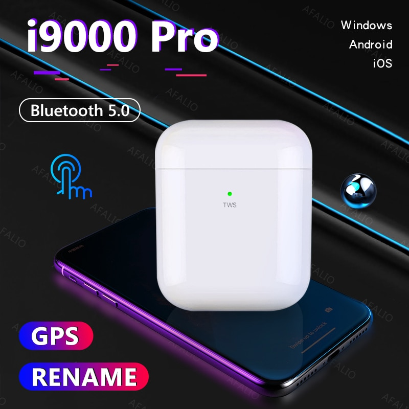 I9000 Pro tws / pro 4 tws inalámbrica Bluetooth GPS i90000 pro earuds para iPhone Android PK i9000 i90000 pro i500