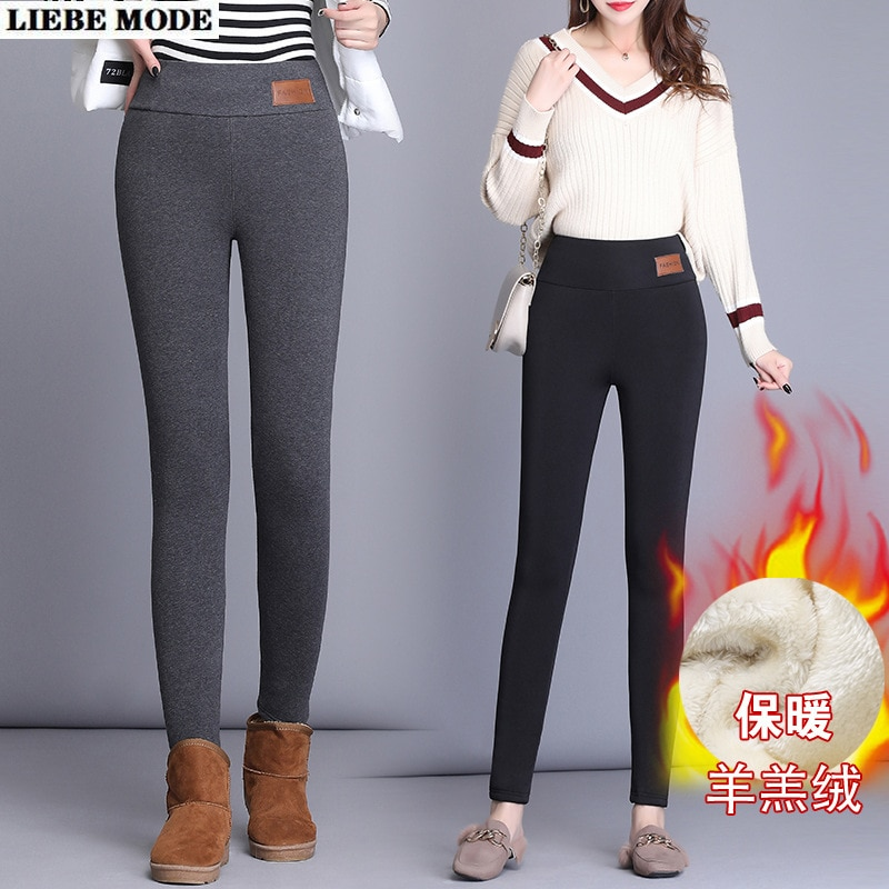 Keep Warm Thick Cashmere Leggings Woman Winter Black Grey Legging Women High Waist Plus Size Casual Streetwear Clothing  5XL 6XL