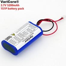 Varicore 3,7 V 5200 Mah 18650 Lithium Batterij Angeln Led Licht Bluetooth Lautsprecher 4.2 V Notfall Diy Batterij + 2 P Sek