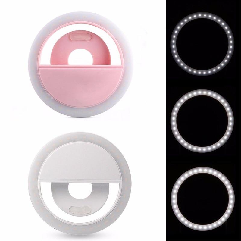 Портативный заполняющий светильник мобильный телефон мини селфи LED кольцо вспышка светильник лампа с подставка-держатель для сотового телефона для живой фотографии видео