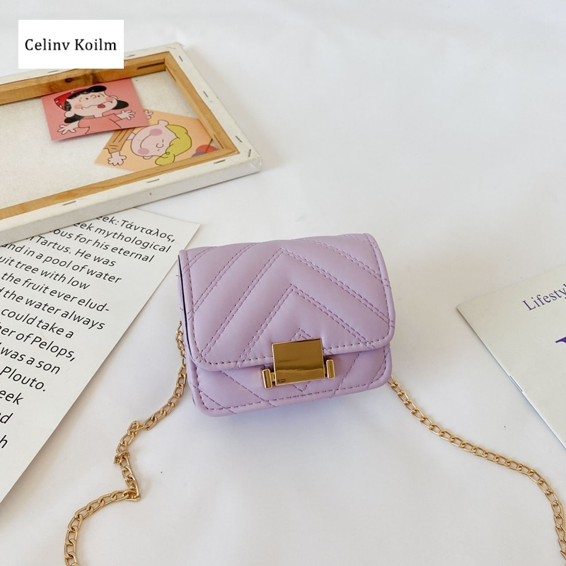 Celinv Koilm Girls' Small Bags, Fashion Mini Children's Coin Purse, Princess Bag, High-End Western Style Little Girl Messenger