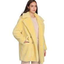 MAOMAOFUR Real Wool Teddy Coat Women New Fashion Real Sheep Fur Jacket Female Warm Oversize Winter Outerwear Wool Clothing