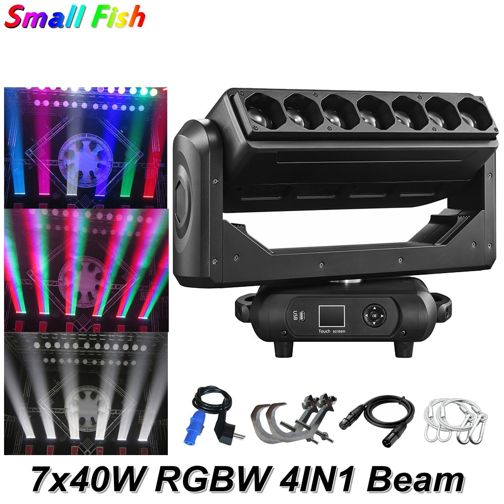 4 unids/lote Control de punto de píxel de Color mezclado 7x40W RGBW LED haz de luz móvil Zoom efecto de lavado luces de fiesta discoteca DJ DMX512