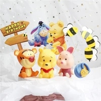 disney cute cartoon birthday cake topper decoration winnie the pooh pig tigger birthday for party supplies boy girl love gifts