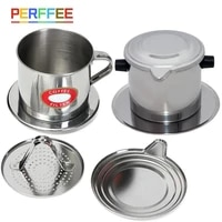 135ml vietnamese phin coffee drip filter stainless steel coffee maker pot infuse cup portable durable for home office