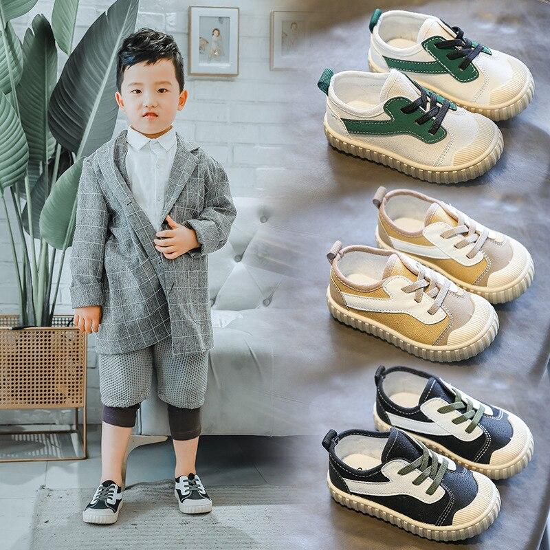 Новинка 2021, детская обувь, детская подходящая парусиновая обувь, детская обувь, модная Студенческая обувь с закрытыми пальцами и защитой от ...
