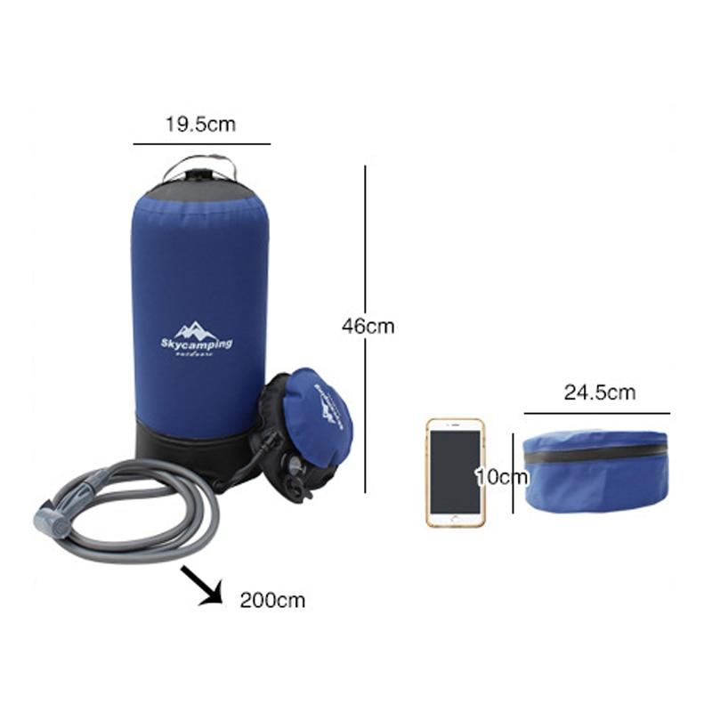 PVC Pressure Shower Bag Portable Outdoor Camping Shower Bags Outdoors Beach Shower Lightweight Bathing Travel Water Storage Bag