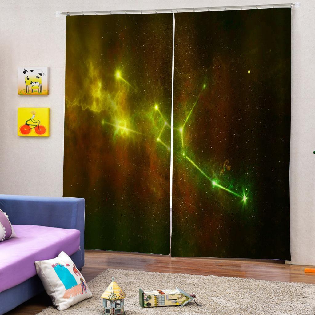 3D Curtain Blackout Creative Living Room Bedroom Printing Cortinas Drapes Dream Kids Room Cortinas