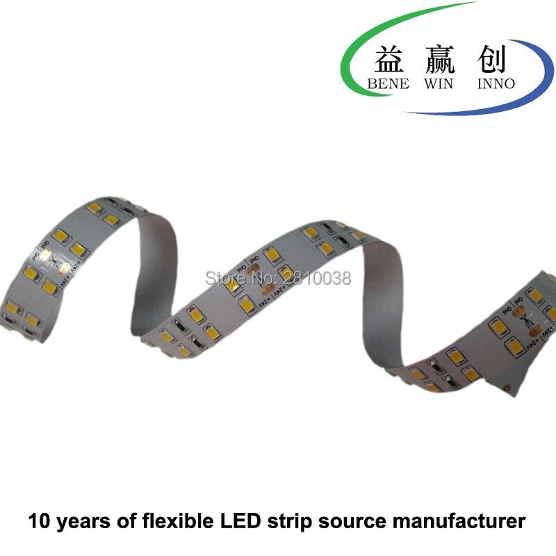 100 m/lote 15mm de ancho IP22 tira de led de 2835 de alta CRI Ra> 90 144 leds/M led flexible tira de luz led DC24V 28,8 W/M para oficina