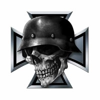 cool pvc personality creative iron cross skull motorcycle car bumper sticker decal sticker zww 0209 13cm13cm