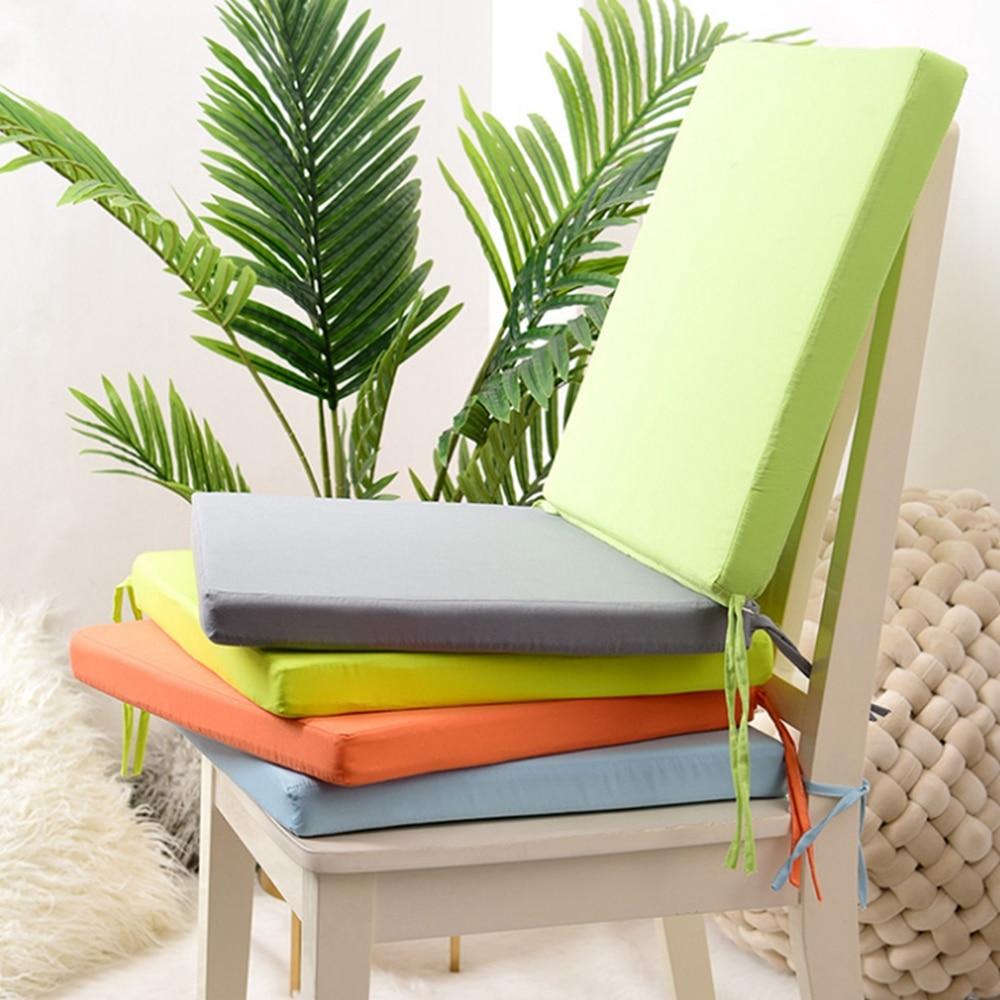 Almofadas de cadeira removíveis, almofadas multicoloridas de jardim, pátio, cozinha, escritório, sala de jantar, ambientes internos, alta qualidade