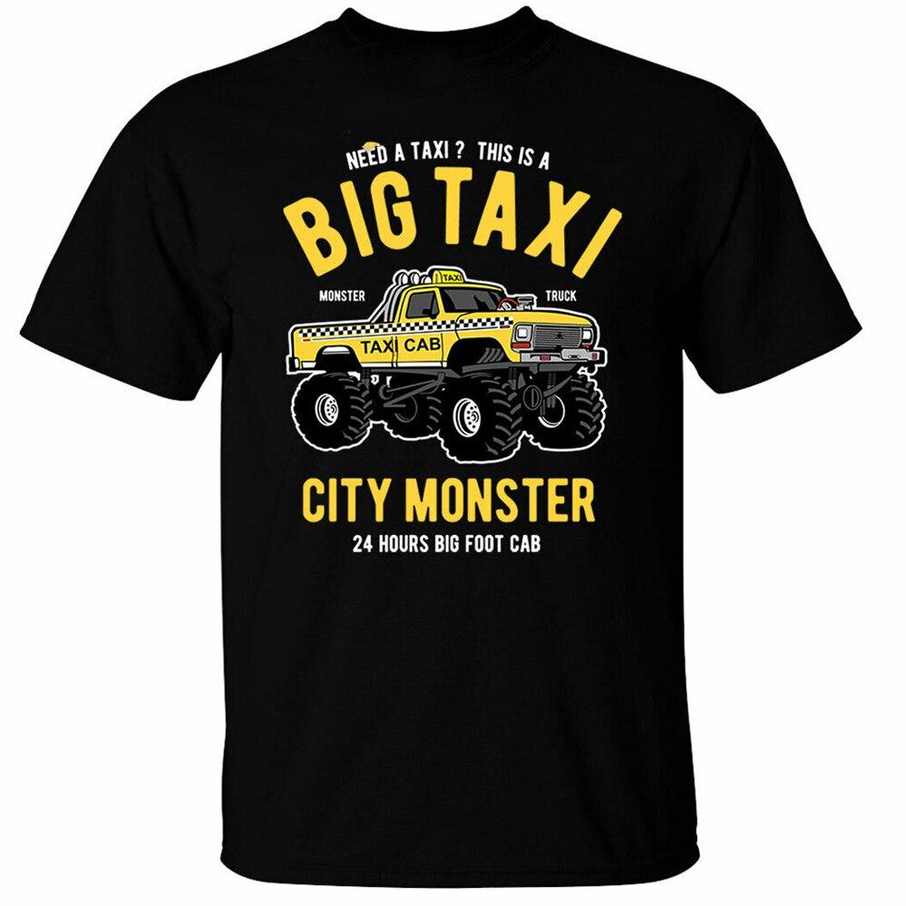 Camiseta retro con gráfico de camión monstruo para hombre de Big Taxi