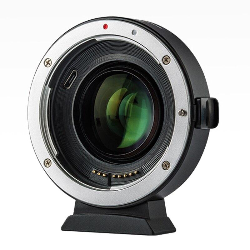 Viltrox EF-EOSM2 AF adaptador de lente de enfoque automático 0.71X reductor de velocidad de montaje de refuerzo para Canon EF a EOS M Cámara M3 M5 M6 M10 M50 M100