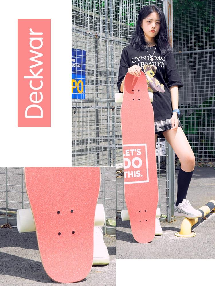 Longboard Skateboard Girls Beginner Dance Board Road Brush Street Boys Professional Adult Twin Tips Scooter