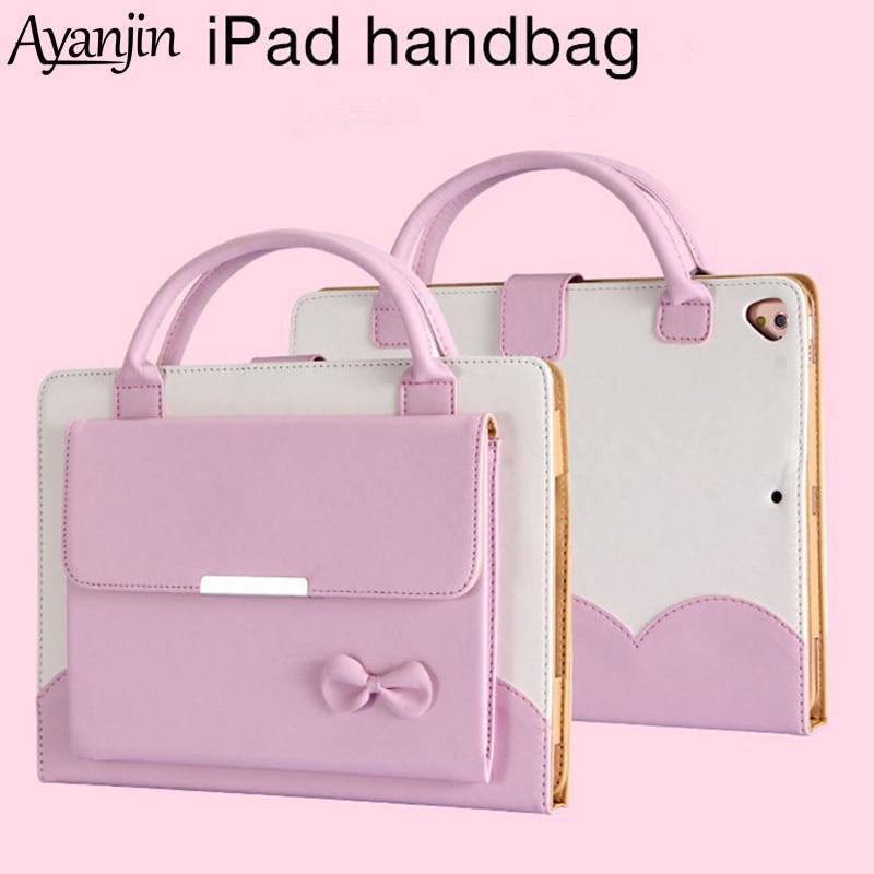 Funda con asa para ipad Air 1 2/Pro 9,7 pulgadas Tablet handbagFor New ipad 9,7 2018 2017 A1822 A1893 funda con soporte + película + lápiz óptico