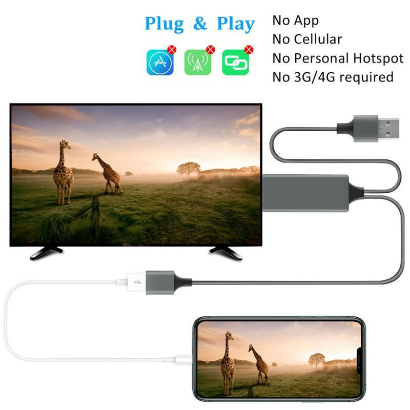 USB a Hdmi compatible con adaptador de convertidor de Cable de espejo...