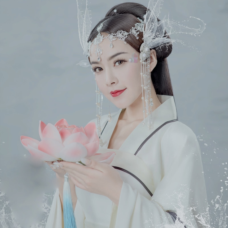 WYJN Tian He Nv زي الجنية الجمالية Hanfu الأسطورة الصينية القديمة السماء نهر الجنية الموضوعية التصوير زي تأثيري Hanfu