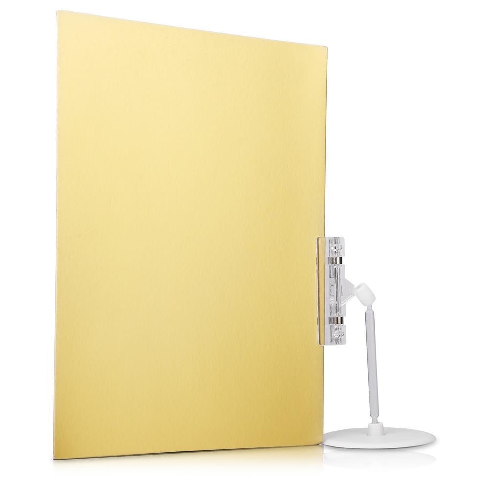 Fotografía A4 fondo de cartón de papel dorado plateado negro Reflector de fondo de papel de cartón soporte pequeño accesorios de disparo