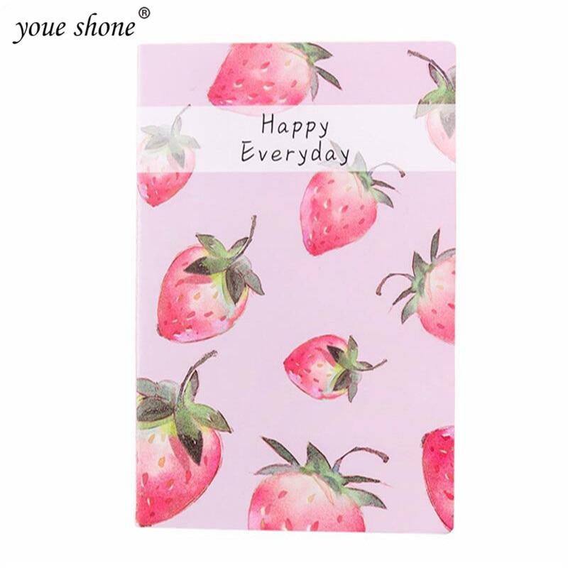 Youe shone 1 Uds pequeño fresco A5 fruit notebook Cute estudiante suave copia agenda libro útiles escolares para estudiantes
