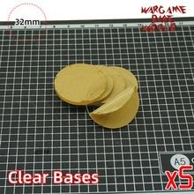 Mundo Base Wargame-BASES transparentes/claras para miniaturas-bases claras de 32mm