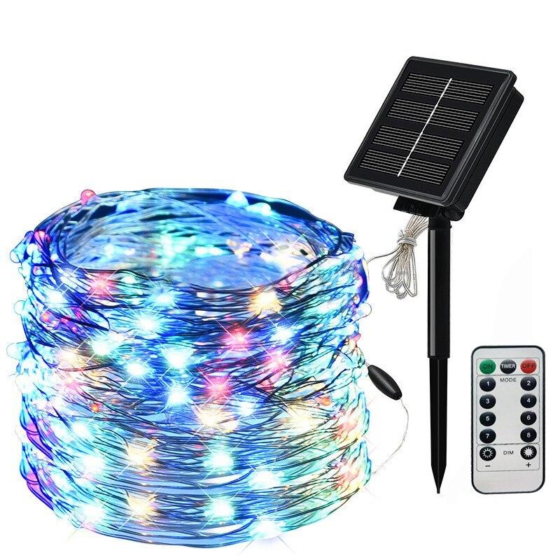 Solar Lamp String Light 20/30/40m DIY LED light bar light fairy lights Christmas lights Outdoor Waterproof For Garden Decoration