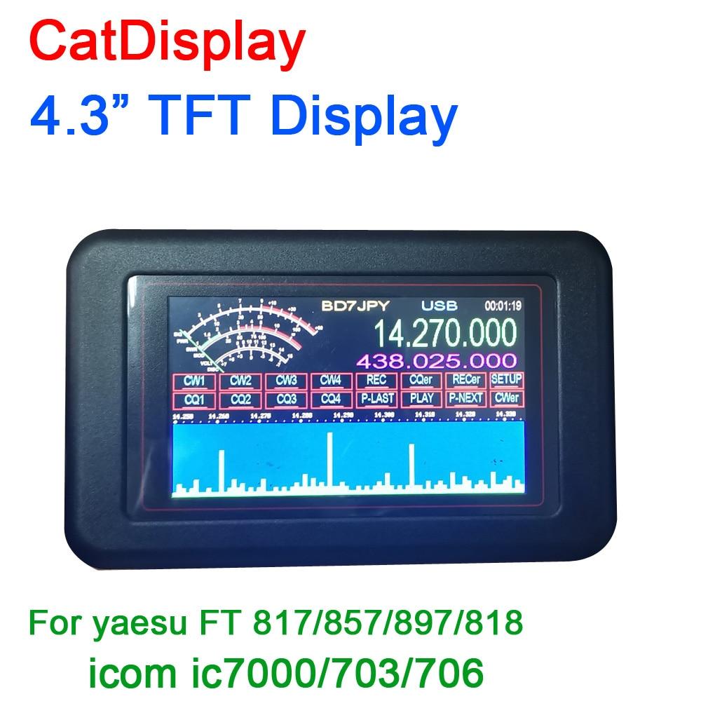 DYKB-شاشة CatDisplay 4.3 TFT ، تسجيل صوتي ، مكالمات تلقائية لـ CAT yaesu ft817/857/897/818 icom ic7000/703/706 756 718