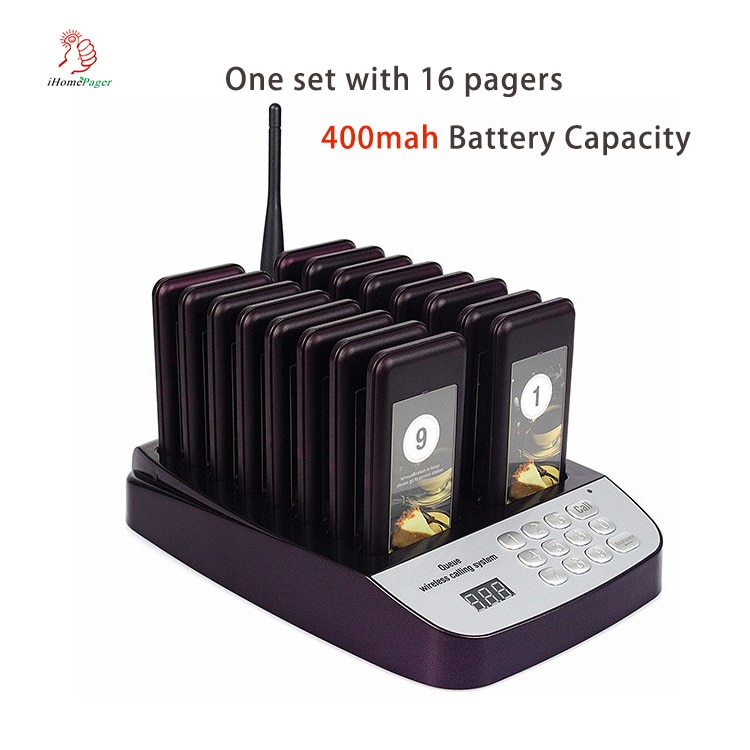 queue pager system for fastfood restaurants KFC Cafe Dessert Shop 1 set with 16 pagers  Spain Stock available