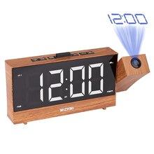 Radio-réveil numérique LED pour bureau, fonction Snooze, projecteur réglable, Radio FM avec minuterie de sommeil