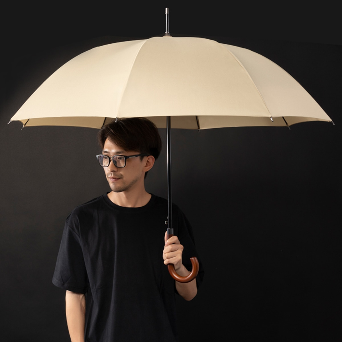 New Arrival Japanese Brand Long Umbrella 8K Windproof Wooden Handle Large Men Umbrellas Rain Quality Classic Business Paraguas enlarge