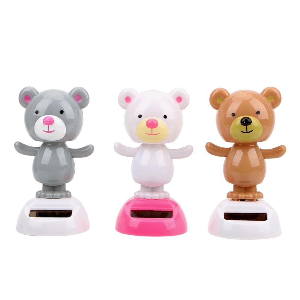 LEEPEE accesorios interiores oso lindo juguete bailarín columpio Bobble muñeca juguete coche ornamento tablero decoración Solar